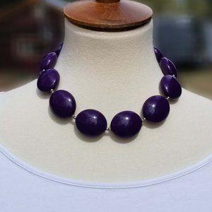 1990's Chunky Choker Style Purple Necklace EUC